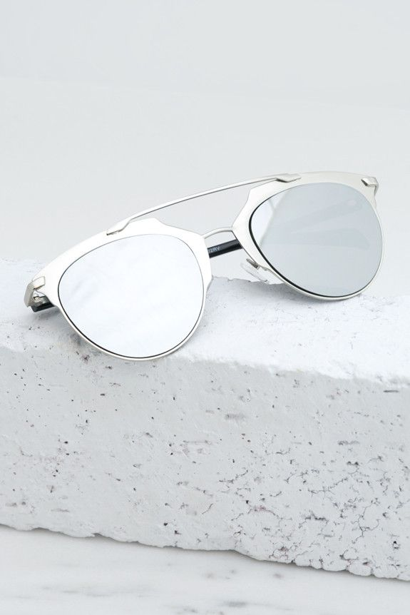 Skylar Reflective Sunglasses - Silver – Haute & Rebellious