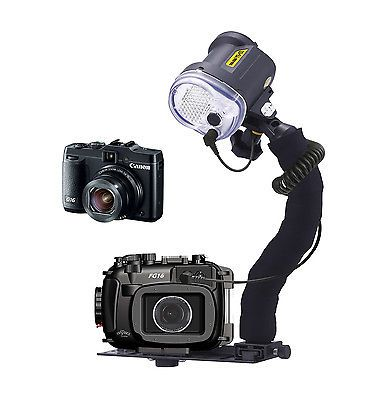 Underwater Photography 91567: Mozaik Fg16 Underwater Housing And Canon G16 Camera W/Sea And Sea Ys-03 -> BUY IT NOW ONLY: $1079 on eBay!
