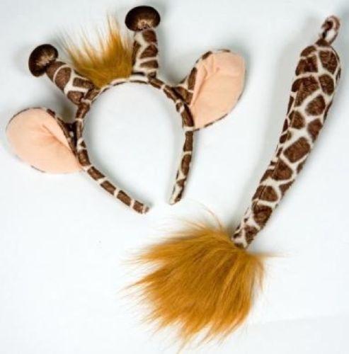 Giraffen-Set-Giraffe-Giraffen-Kostuem-Fasching-Tier-Verkleidung-Zoo