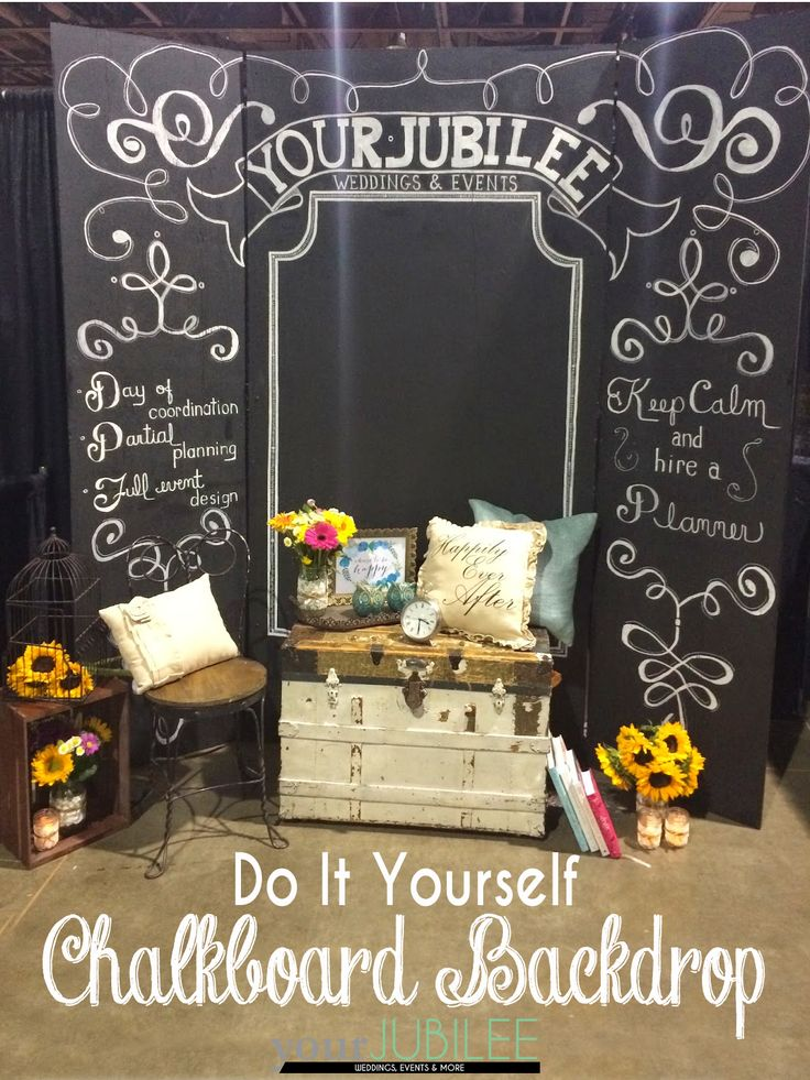 Your Jubilee How To Build Your Own Backdrop Diy Pinterest Chalkboard Background