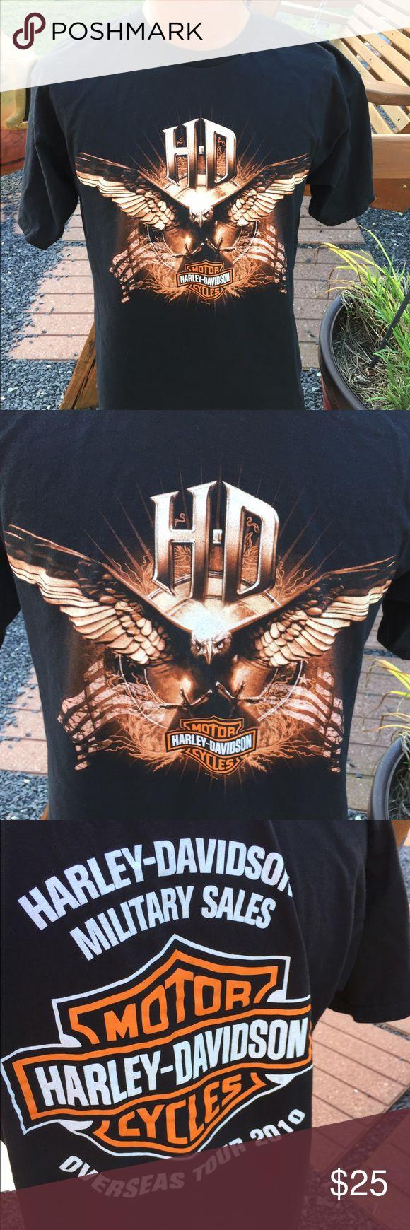 Harley Davidson Military Overseas Tour T Shirt L Mens size large. Worn once. Harley-Davidson Shirts Tees - Short Sleeve
