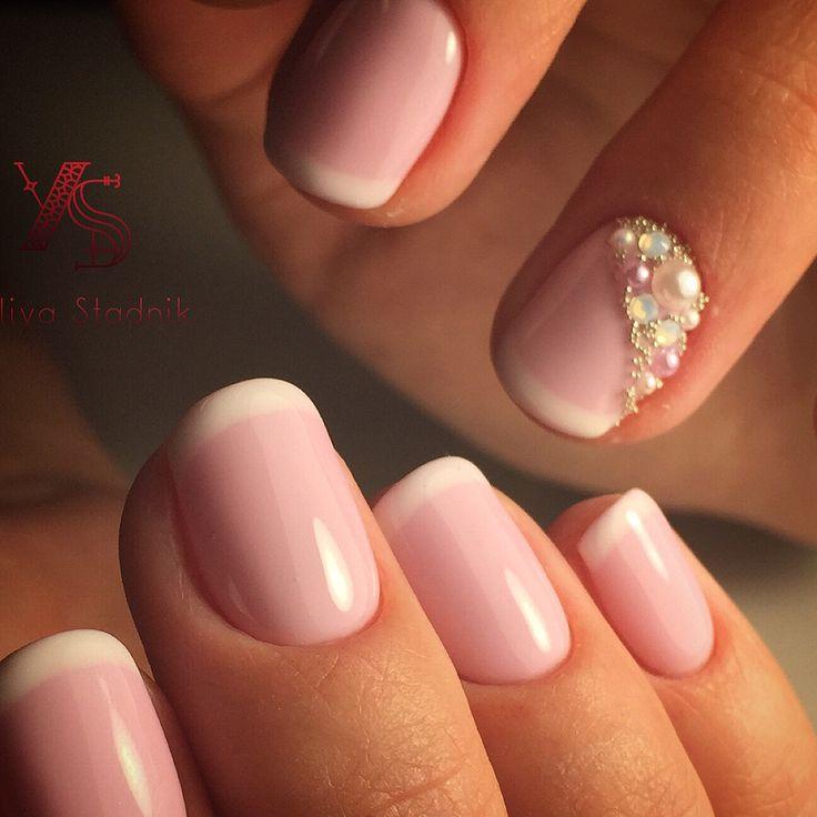 French manicure, Swarovski