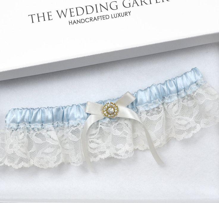 Blue Wedding Garter Bridal Ivory Plus Size Vintage