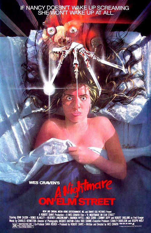 A Nightmare on Elm Street (1984) - horror film poster design & illustration - art by Matthew Peak