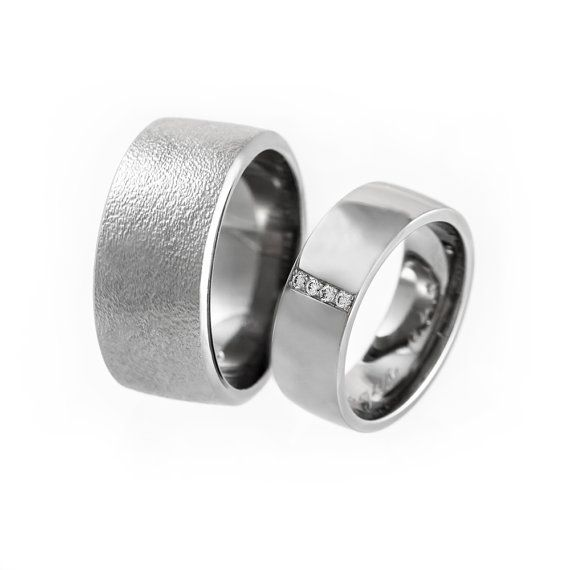 Simple wedding bands his and hers wide wedding by KorusDesign
