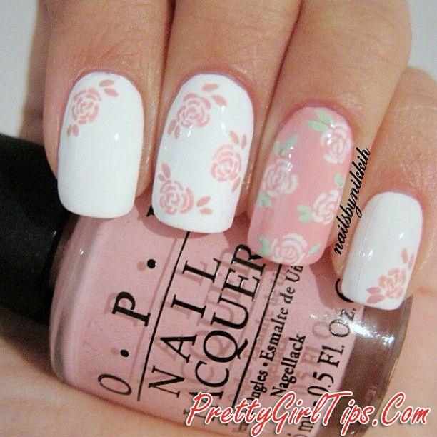 @prettygirltips Floral Nails
