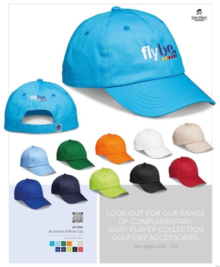 Gary Player Accelerate 6 Panel Cap Code: GP-1050 100% Chino Cotton Twill Gary Player Caps, Gary Player Bags, Gary Player Umbrellas, Gary Player golf accessories by Best Branding