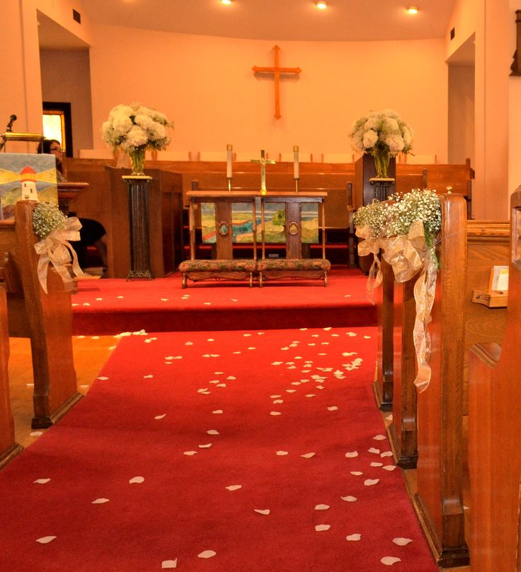 Large Hydrangea Altar Pieces and Pew Decorations