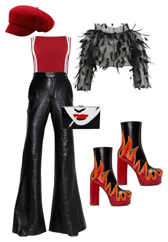 """""""Another Rocker look"""" by averie7turner on Polyvore featuring E L L E R Y, Oscar de la Renta, Vetements and Charlotte Olympia"""