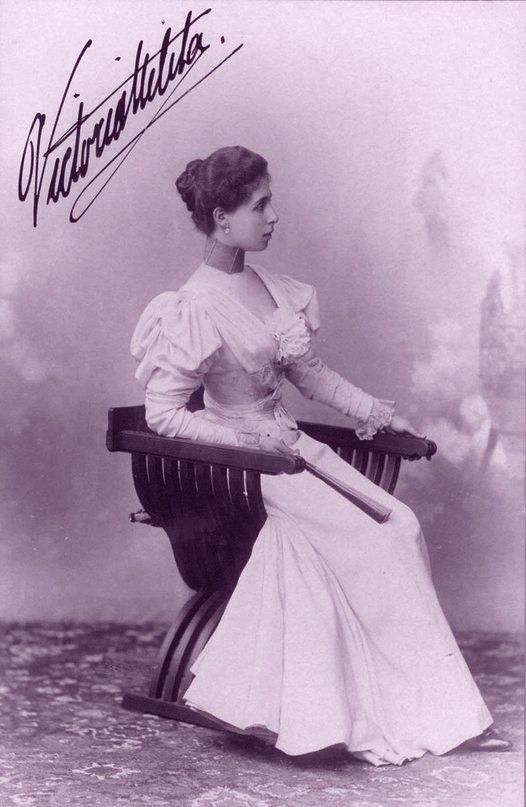 Grand duchess Victoria Melita of Hesse, neé Pss of Edinburg, later Gdss Victoria Fyodorovna of Russia. Late 1890s.