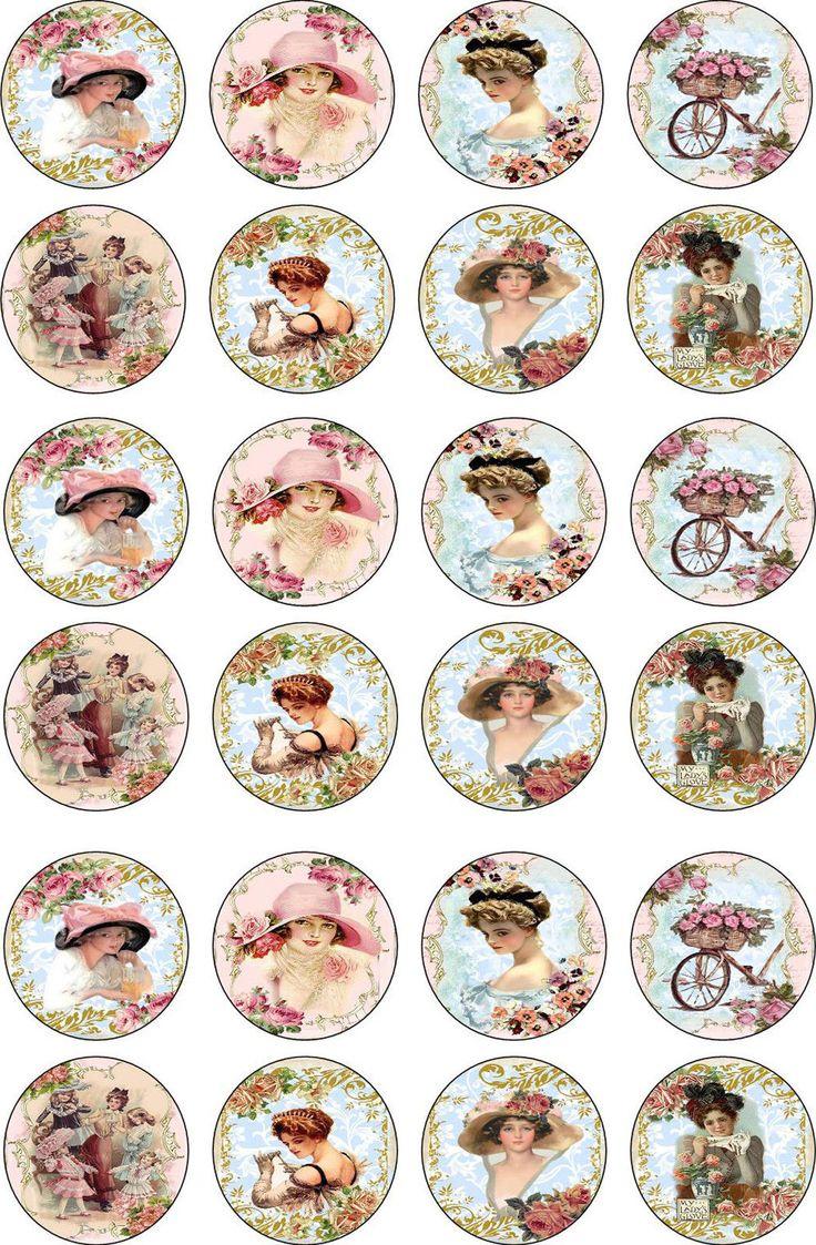 Bottlecap Victorian Women