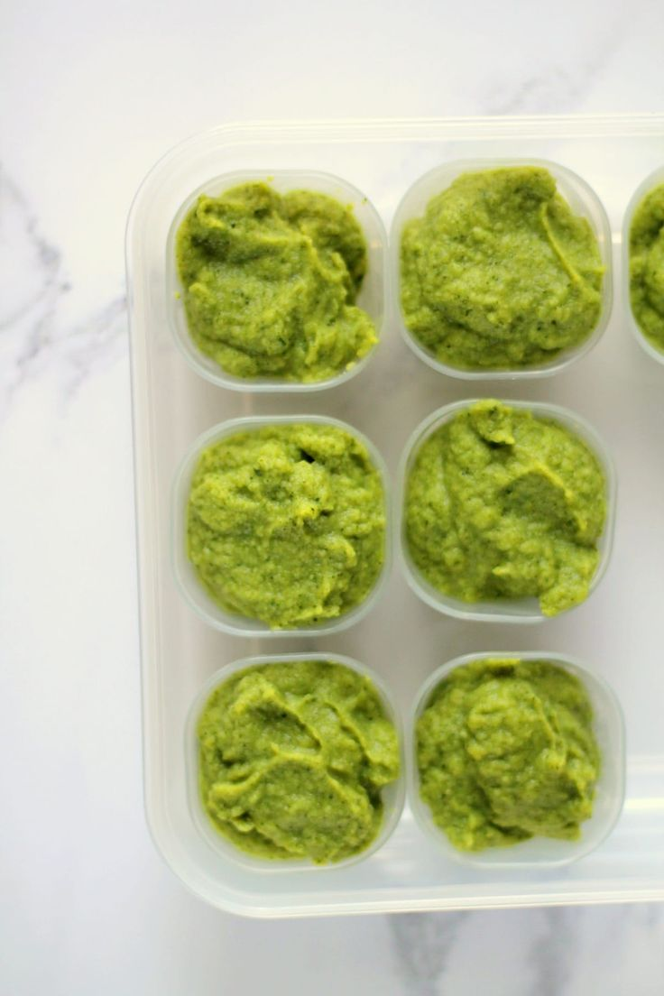Broccoli, Avocado & Basil Puree (Iron Rich Baby Food)