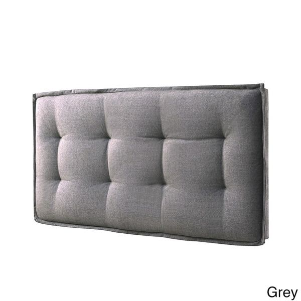 LYKE Home Upholstered Faded Queen Wall-mount Headboard