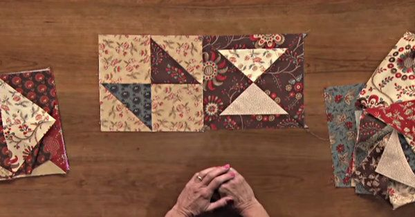 Looking For A Nice Change-Of-Pace Project? Try This Fold And Sew Quilt!