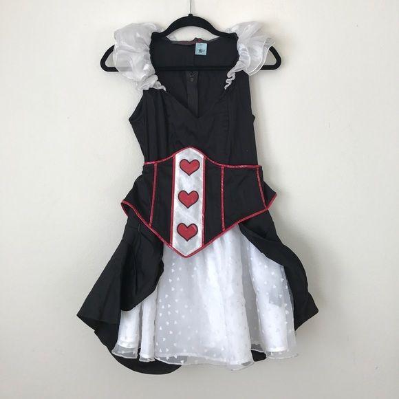 """LIP SERVICE Costume Vault """"Queen Of Hearts"""" short dress #83-6-09"""