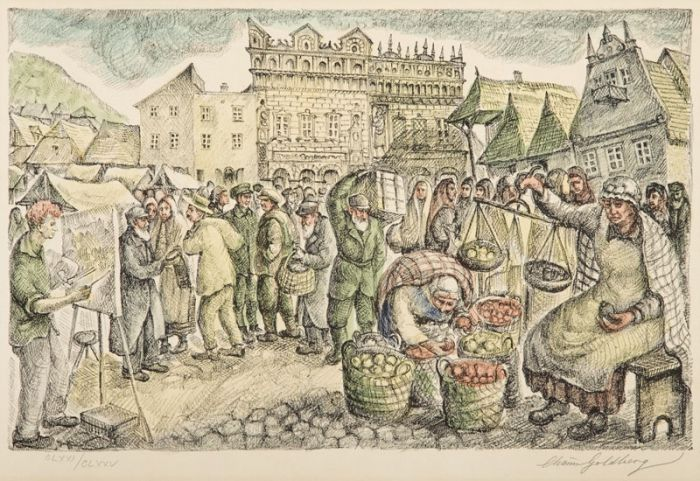Chaim Goldberg - Rynek w Kazimierzu Dolnym