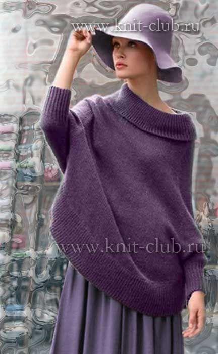 Модный пуловер для женщин, вязание спицами 2015