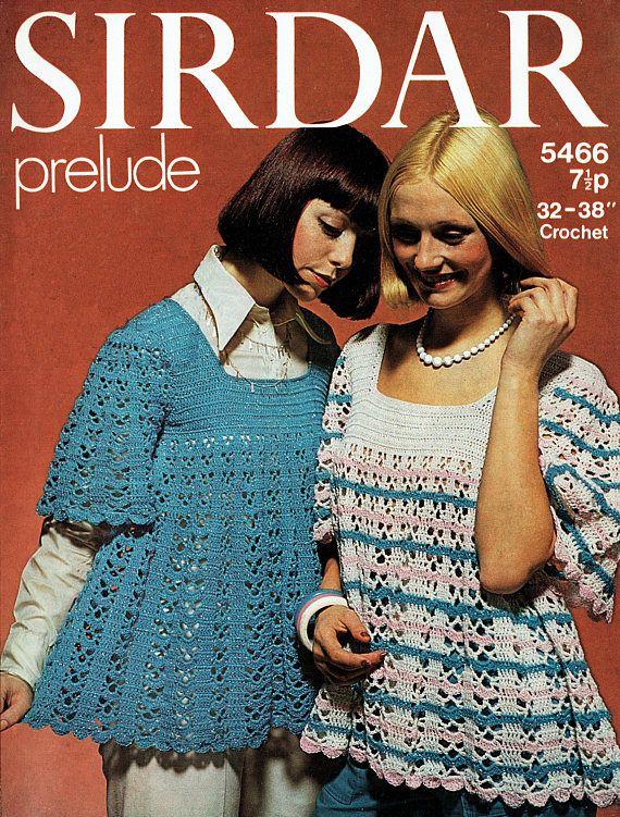 PDF Vintage Womens  Ladies Smock Dress Crochet Pattern 1970s