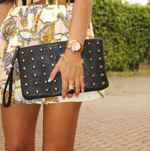 Studded clutches.