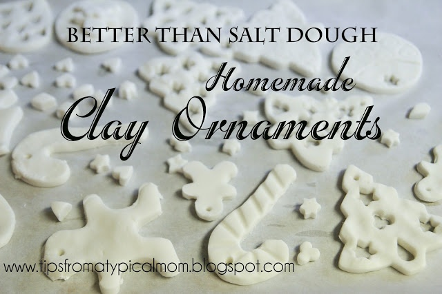 Mom Blog - Tips from a Typical Mom: Kids Crafts and Coloring/ Homemade Clay Ornaments (better than salt dough)