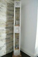 Windlicht Shabby Chic Vintage Holz Landhaus Deko Säule #Baustil landhaus