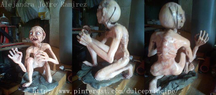 Sculpture Gollum by Alejandra Jofre Ramirez