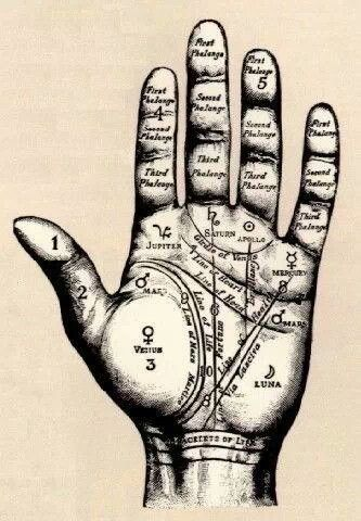 Palm Reading Guide Vintage