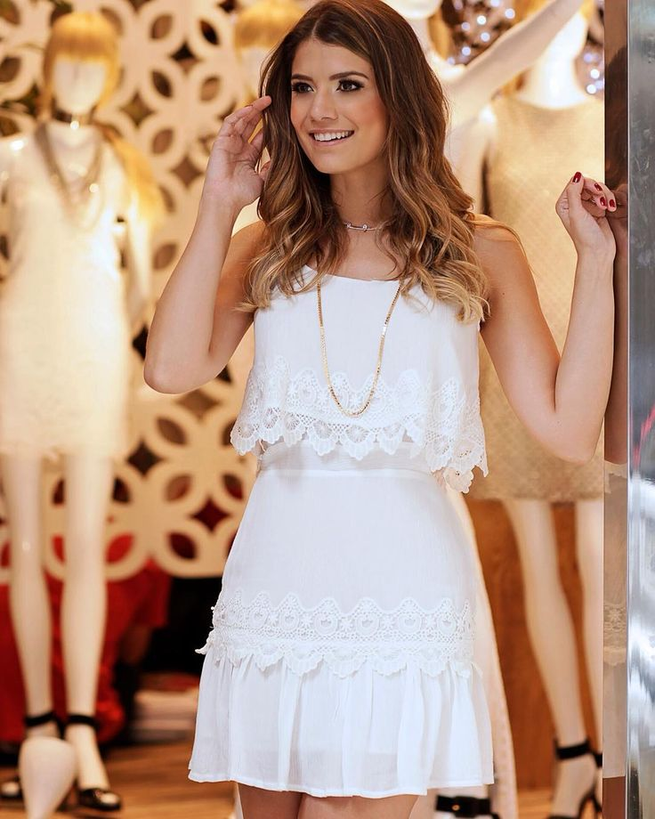 Adorable vestido blanco