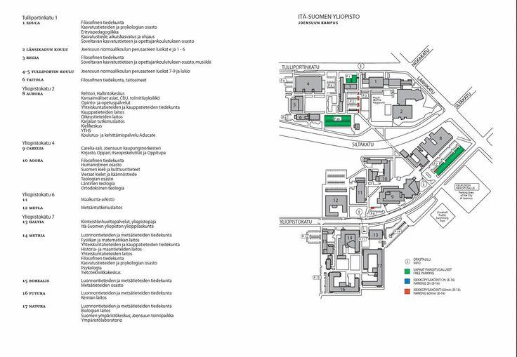 UEF - Joensuu campus map