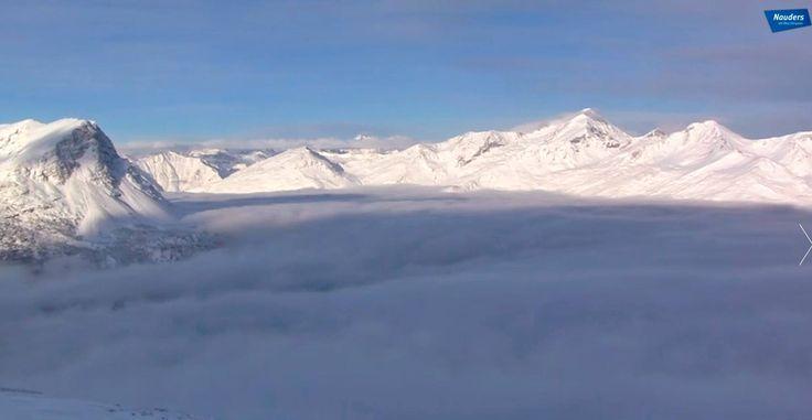 verschneite Bergspitzen, Winter in Nauders am Reschenpass