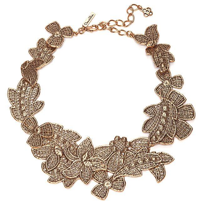Кружевное ожерелье  Oscar de la Renta (как повторить)