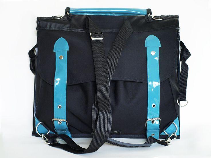 Multifunctional bicycle twin-bag: pannier bag + crossbody + backpack + shoulder bag