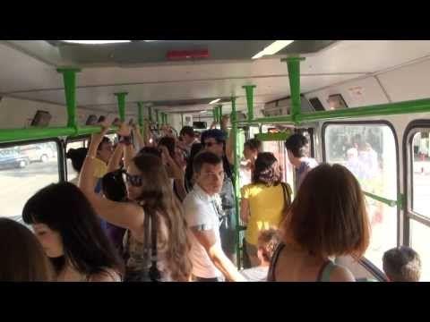 Выйду ночью в поле с конем... в автобусе - YouTube