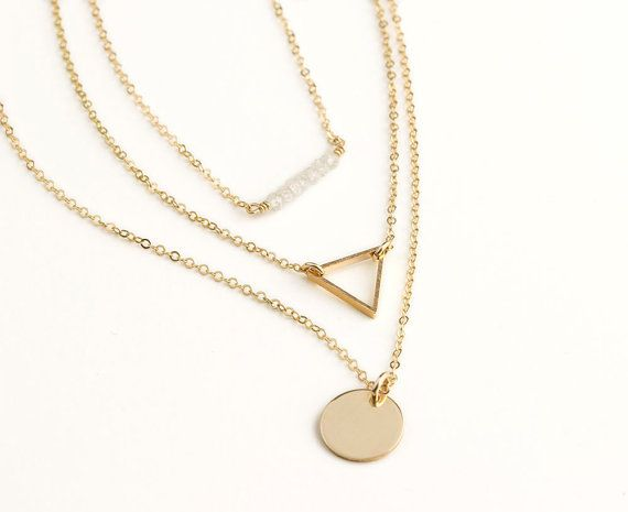 Delicate Layering Necklaces / Dainty Gold Chain.