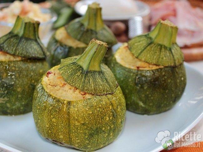 Ricetta per Zucchine Tonde Ripiene di Cous Cous
