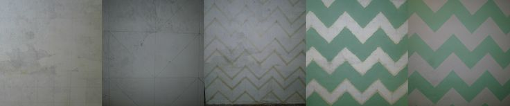 Mi pared chevron paso a paso Step by step chevron my wall mint & gray