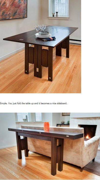 Converting table by Infusion Furniture. Even better than the coffee table idea!