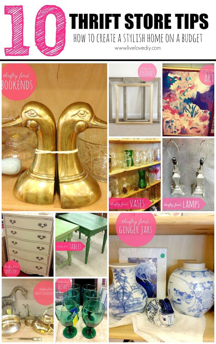 10 Thrift Store Tips: How to create a stylish home on a budget! #DIY #ideas #tips #tricks
