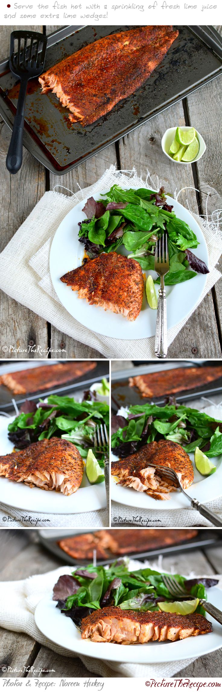 Blackened Salmon (Homemade Seasoning) | PictureTheRecipe.com