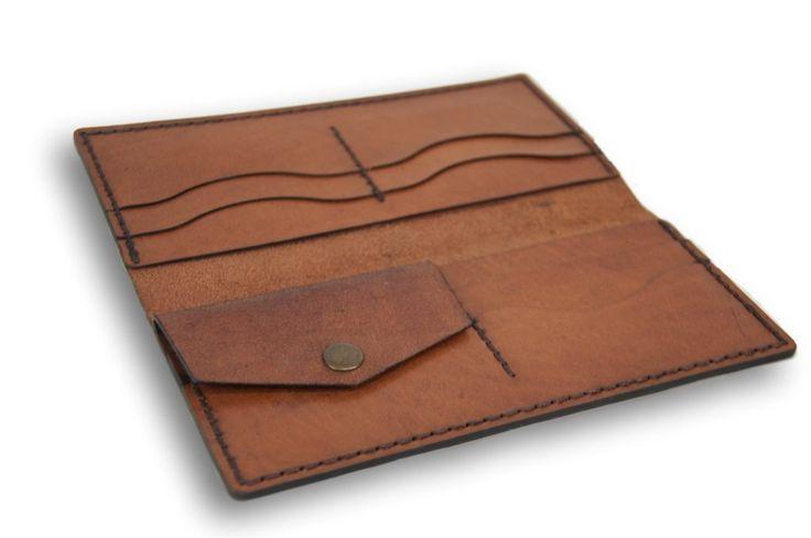 Handmade Leather Wallet, Long Wallet for Men