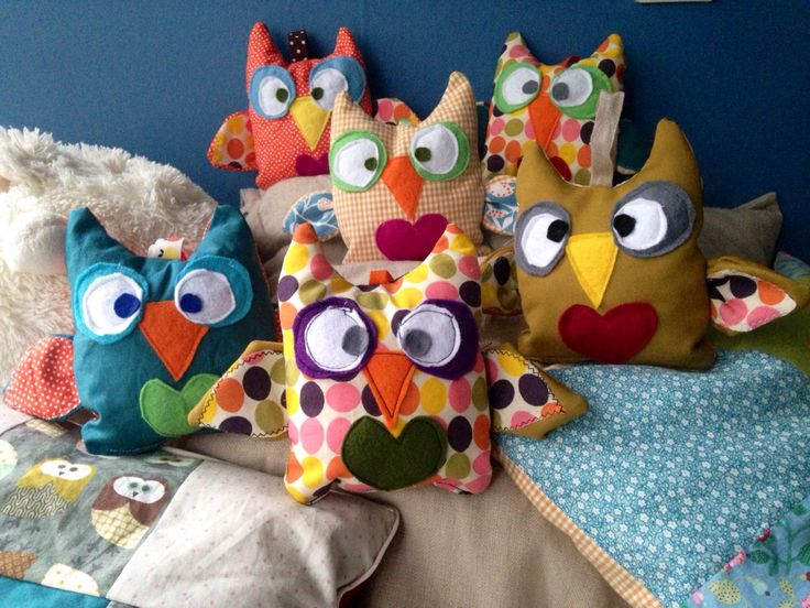Cute little plush owls