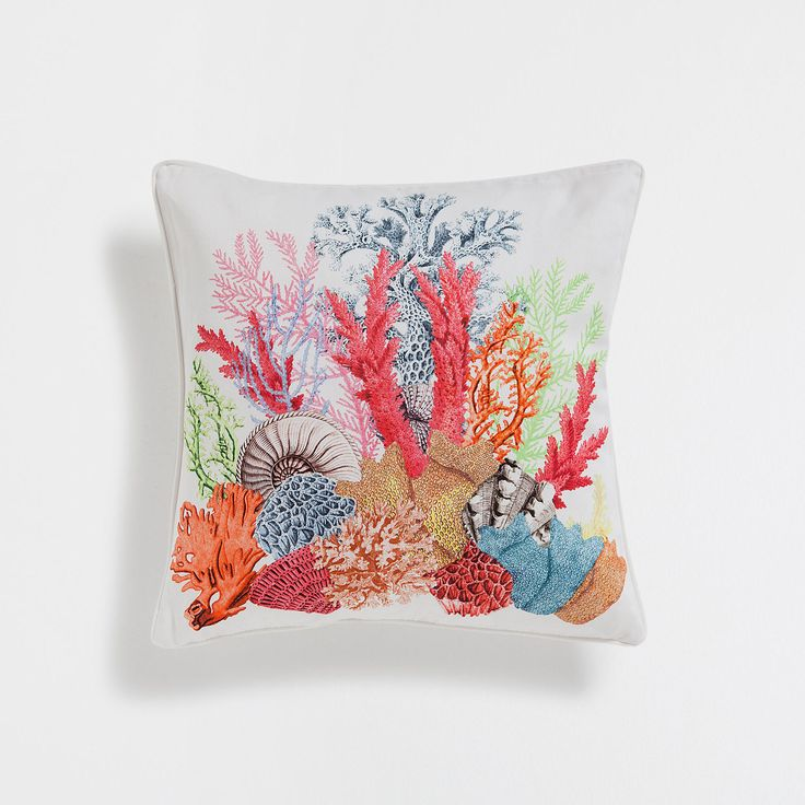 Funda de cojín algodón estampado marino - Underwater Collection - CAMA | Zara Home España