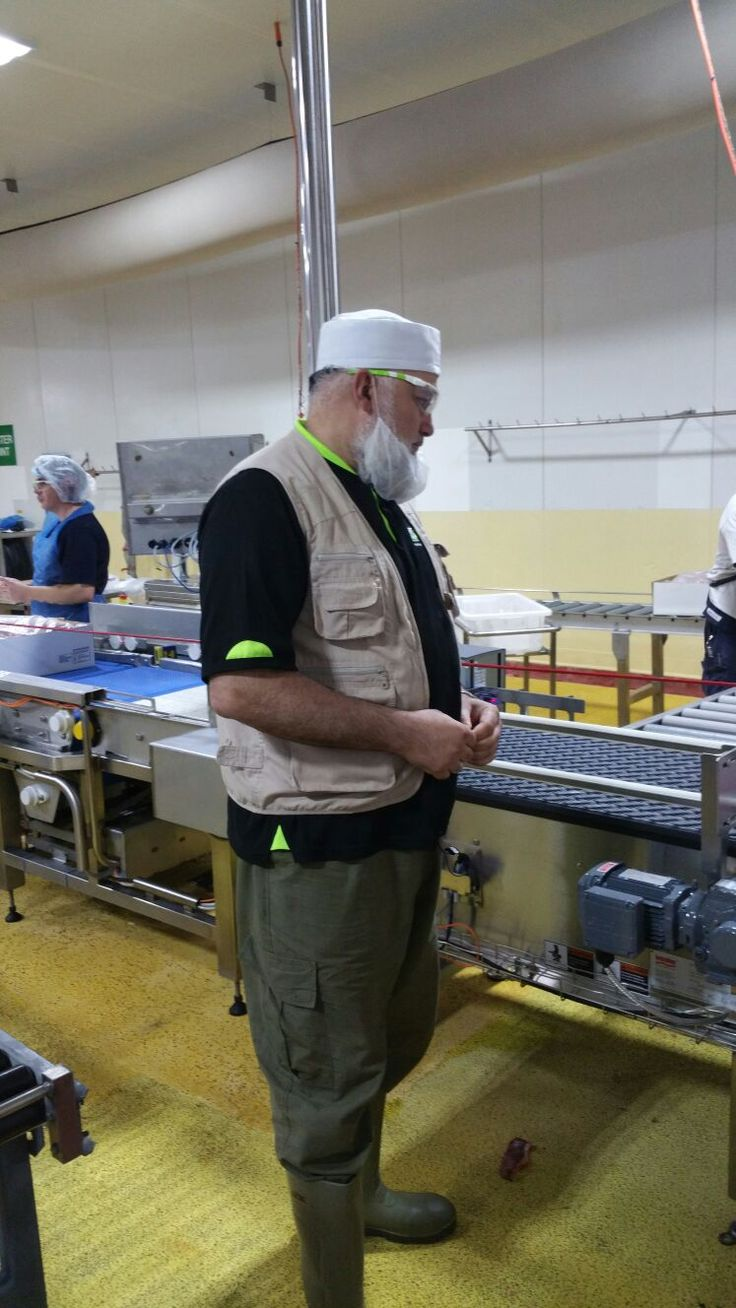 Muslim Aid Australia, 2015. Our CEO Sh. Hassan overseeing the production process of our canned and packaged Qurban solutions. They are sealed fresh and the packaging and process is super sustainable!