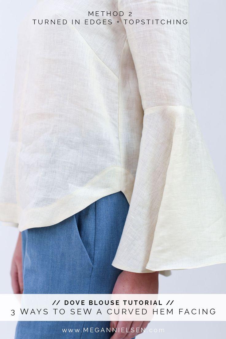 3 ways to sew a curved hem facing // Megan Nielsen Design Diary // Dove blouse sewalong