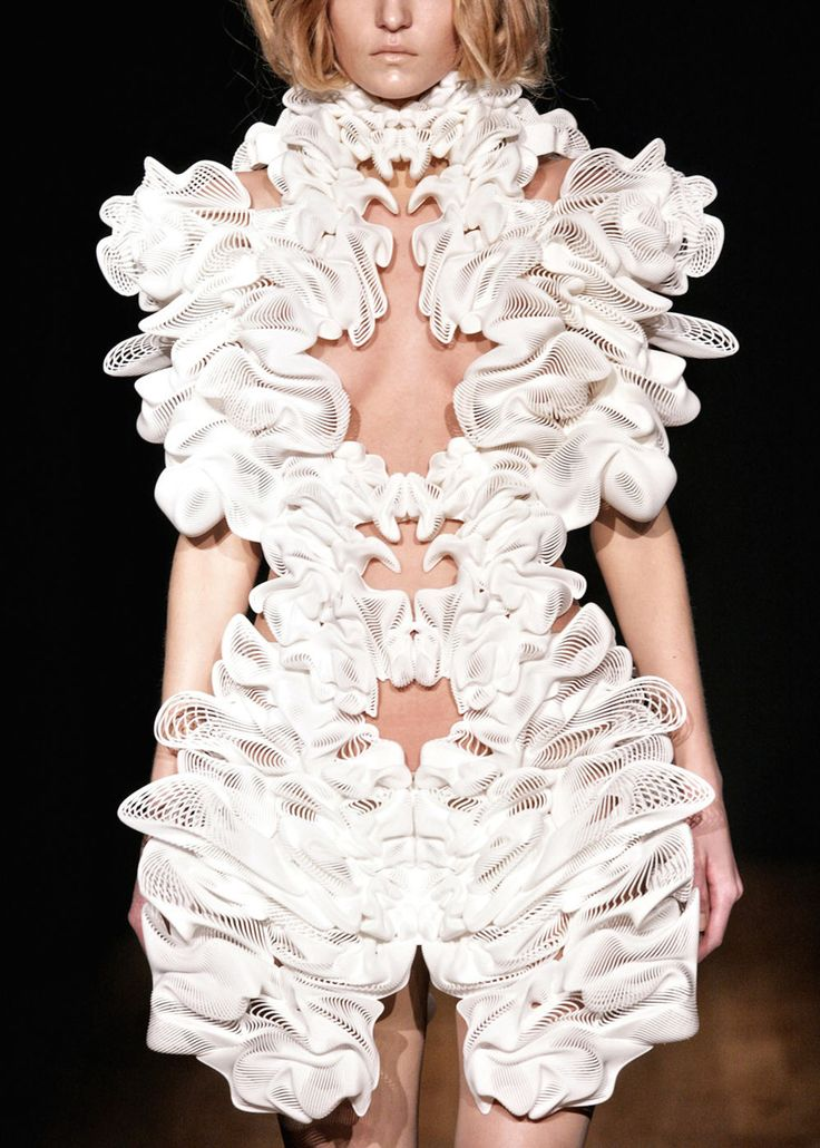 Iris Van Herpen - love this unique texture