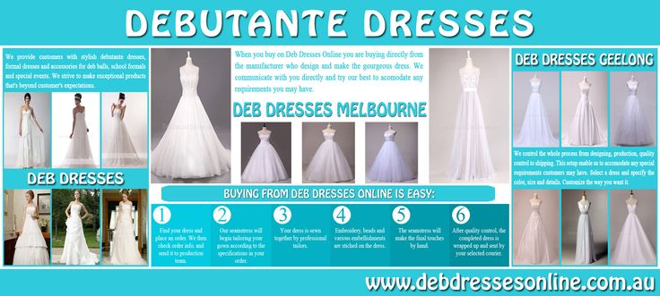 Try this site http://www.debdressesonline.com.au/ for more information on Deb Dresses Geelong. Choose Deb Dresses Geelong which will emphasize the middle of your body and waist area, perhaps with a sash or belt. A dress which is a lighter color at the top of the body and is dark at the bottom will help to elongate your body shape. Make your upper body appear wider by adding a wrap or shrug. Go for broad horizontal necklines.