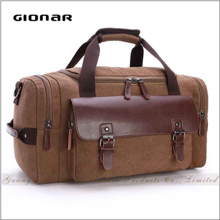 Alibaba Supplier Camel Canvas Crossbody Large Luggage Canvas Travel Bag #Crossbody_Bag, #camel