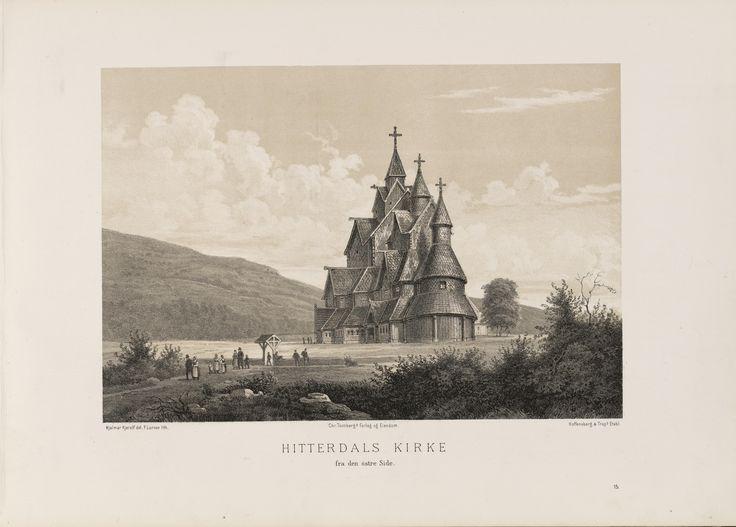 Norge fremstillet i Tegninger - Ukjent - Hitterdals Kirke fra den östre side. jpg (6080×4360)