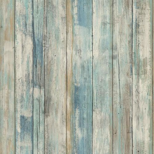 Blue Distressed Wood Peel And Stick Wall Decor Roommates Decor Wallpaper Wall Decor Home D