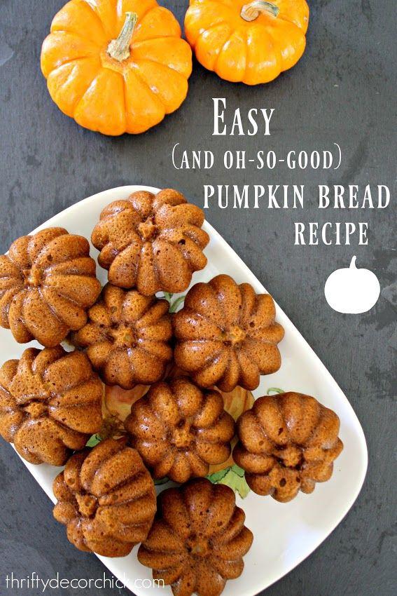 Yummy (and easy!) pumpkin bread recipe
